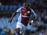 Aston Villa player Jores Okore in action during the Capital One Cup second round match between Aston Villa and Rotherham at Villa Park on August 28, 2013