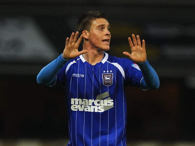 Josh Carson of Ipswich Town in action during the npower Championship match between Ipswich Town and Doncaster Rovers at Portman Road on November 5, 2011