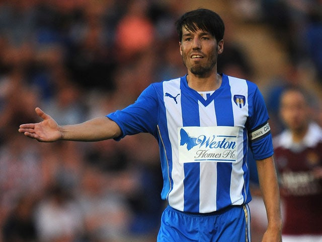 Kem Izzet of Colchester United during the Pre Season Friendly match between Colchester United and West Ham United at Colchester Community Stadium on July 16, 2013