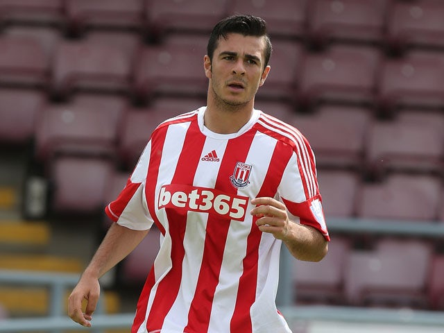 Kevin Gomez of Stoke City in action during the Pre-Season Friendly match between Northampton Town and Stoke City Development Squad at Sixfields Stadium on July 27, 2013