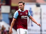 Kevin Nolan of West Ham United looks on during the Barclays Premier League match between West Ham United and Cardiff City at the Bolyen Ground on August 17, 2013