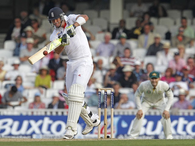 Kevin Pietersen of England bats during day three of 4th Investec Ashes Test match between England and Australia at Emirates Durham ICG on August 11, 2013