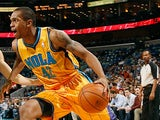 New Orleans Hornets' Lance Thomas in action against Minnesota Timberwolves on January 11, 2013