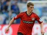 Leverkusen's midfielder Lars Bender plays the ball during the German first division Bundesliga football match FC Schalke 04 vs Bayer Leverkusen in the German city of Gelsenkirchen on April 13, 2013