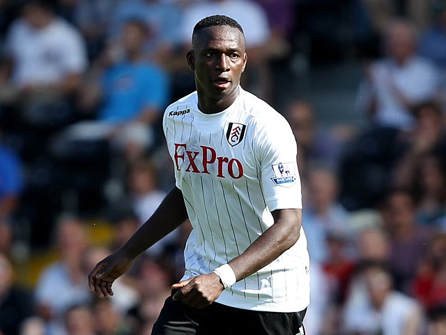 Fulham's Mahamadou Diarra in action during the match against Norwich on August 18, 2012