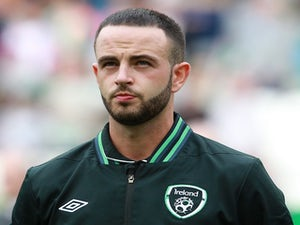Rep of Ireland's Marc Wilson before a game with Georgia on June 3, 2013