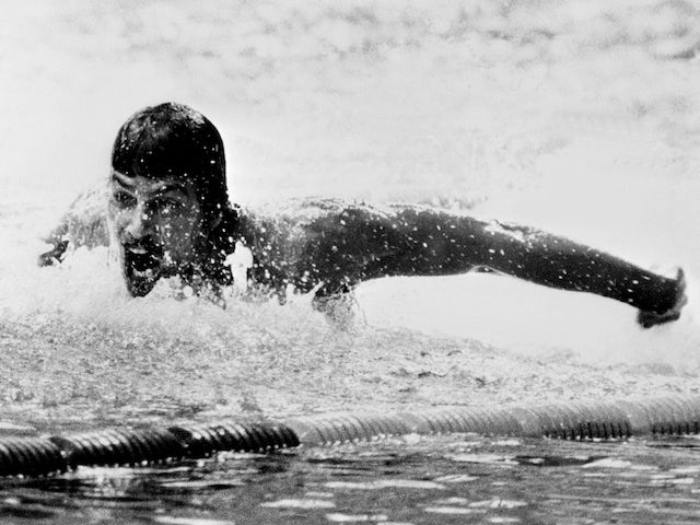 American swimmer Mark Spitz in action during the Munich Olympics 200m Butterfly final on August 31, 1972