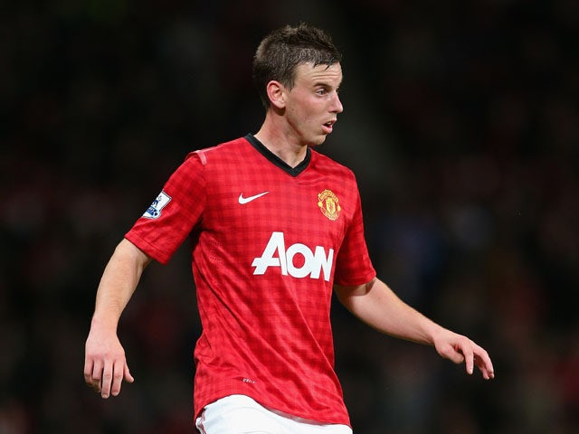 Marnick Vermijl of Manchester United during the Capital One Cup Third Round match between Manchester United and Newcastle United at Old Trafford on September 26, 2012