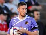 Matt Doherty of Wolverhampton Wanderers looks on during the Capital One Cup First Round match between Morecambe and Wolverhampton Wanderers at Globe Arena on August 06, 2013