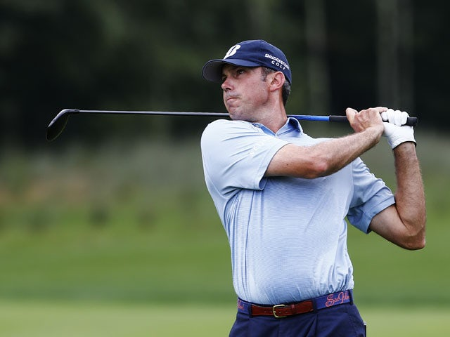 Matt Kuchar plays his second shot on the second hole during the final round of the Deutsche Bank Championship at TPC Boston on September 2, 2013