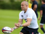 Mike Brown of England in action during the England training session at Loughborough University on August 12, 2013