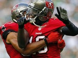 Bucs' Mike Williams celebrates a TD against New York Jets on September 8, 2013