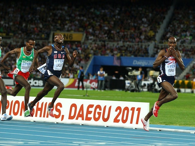 Mo Farah sees off the competition to win gold in the 5,000m at the World Athletics Championships in Daegu on September 4, 2011