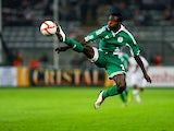 Nigeria's Papa Idris in action during a friendly match against Peru on May 24, 2012