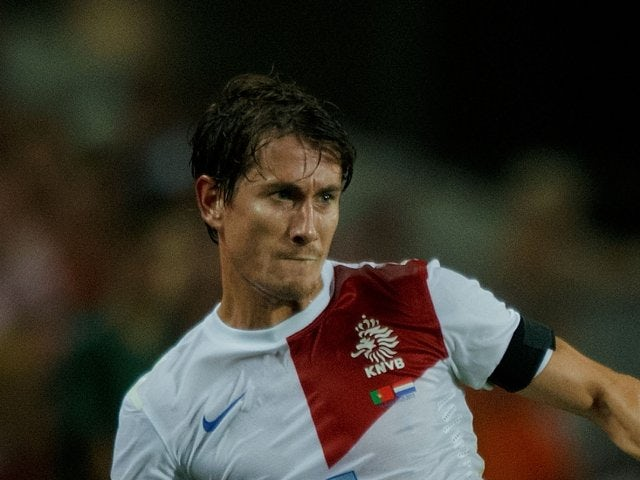 Paul Verhaegh in action for the Netherlands against Portugal in August 2013.