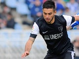 Malaga's Pedro Morales in action during the match against Real Sociedad on April 6, 2013