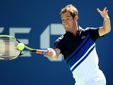 Richard Gasquet in action against David Ferrer during their US Open quarter final match on September 4, 2013