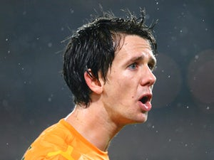 Robbie Kruse of the Socceroos looks on during the FIFA 2014 World Cup Asian Qualifier match between the Australian Socceroos and Iraq at ANZ Stadium on June 18, 2013