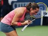 Roberta Vinci celebrates her US Open win over Camila Giorgi on September 2, 2013