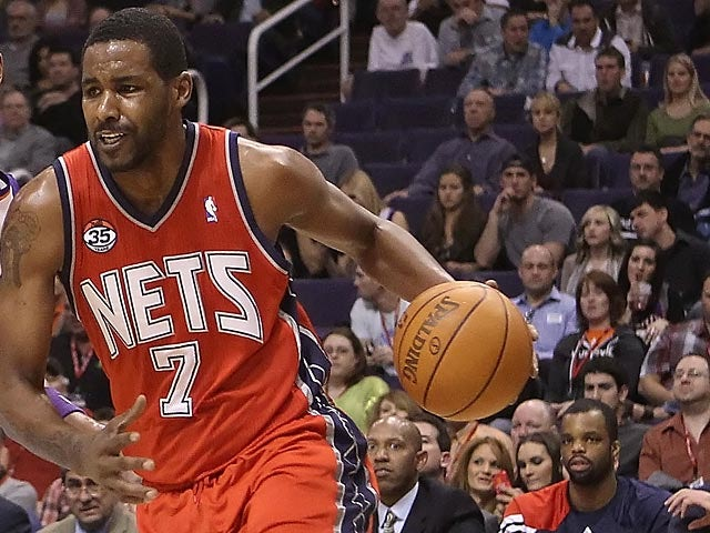 New Jersey Nets' Shawne Williams in action against Phoenix Suns on January 13, 2012