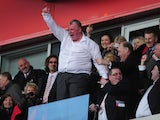 Steve Evans of Rotherham United celebrates promotion during the npower League Two match between Rotherham United and Aldershot Town at New York Stadium on April 27, 2013