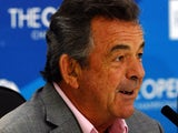 Former English golfer Tony Jacklin speaks at a press conference days ahead of the start of the 2012 British Open Golf Championship at Royal Lytham and St Annes in Lytham, north-west England, on July 16, 2012
