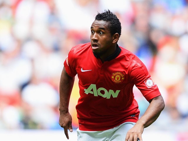 Anderson of Manchester United in action during the FA Community Shield match between Manchester United and Wigan Athletic at Wembley Stadium on August 11, 2013