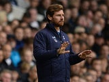 Tottenham manager Andre Villas-Boas gestures on the touchline against Norwich on September 14, 2013