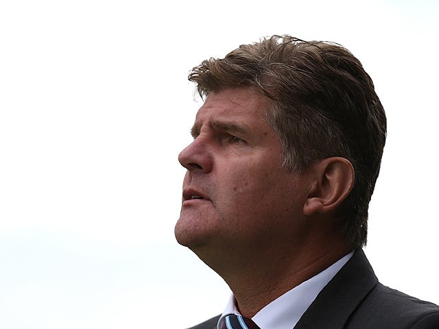Scunthorpe United manager Brian Laws prior to kick-off against Northampton on September 7, 2013