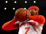 New York Knicks' Carmelo Anthony in action against Indiana Pacers on May 16, 2013