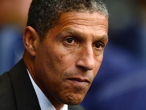Norwich City manager Chris Hughton prior to kick-off during the match against Tottenham on September 14, 2013