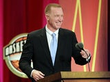 Chris Mullin during his speech at the Basketball Hall of Fame Enshrinement Ceremony on August 12, 2011