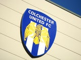 A general view of the club badge during a pre season friendly match between Colchester United and Tottenham Hotspur at the Colchester Community Stadium on July 19, 2013