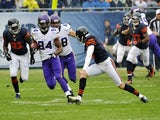 Vikings WR Cordarelle Patterson runs in a 105 kick-off return against Chicago on September 15, 2013