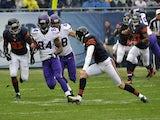 Vikings WR Cordarelle Patterson runs in a 105 kick-off return against Chicago on September 15, 2013
