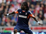Derek Boateng of Fulham in action during the Barclays Premier League match between Sunderland and Fulham at the Stadium of Light on August 17, 2013