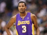 Then Lakers player Devin Ebanks playing against Dallas on November 24, 2012
