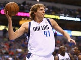 Dallas forward Dirk Nowitzki in action against Memphis on April 15, 2013