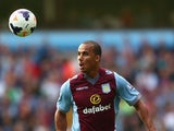 Gabriel Agbonlahor of Aston Villa during the Barclays Premier League match between Aston Villa and Liverpool at Villa Park on August 24, 2013