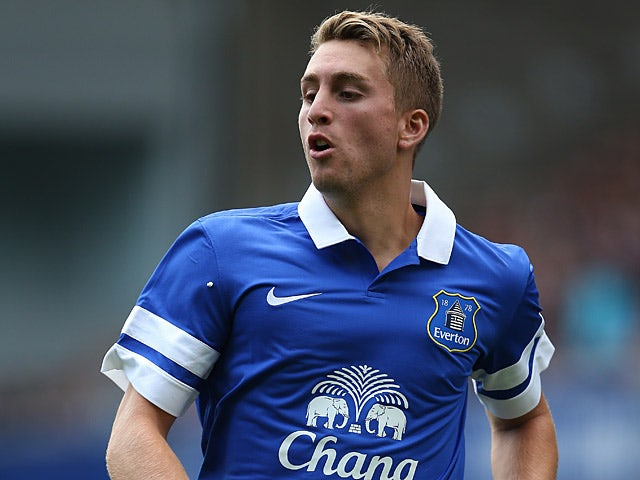 Everton's Gerard Deulofeu in action against Real Betis during a friendly match on August 11, 2013