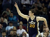 Utah Jazz' Gordon Hayward in action against Charlotte Bobcats on January 9, 2013