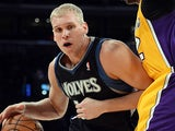 Minnesota Timberwolves' Greg Stiemsma in action against Los Angeles Lakers on February 28, 2013