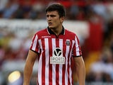 Sheffield United's Harry Maguire in action against Notts County on August 2, 2013