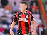 Ian Harte of Bournemouth attacks during the Capital One Cup First Round match between AFC Bournemouth and Portsmouth at The Goldsands Stadium on August 06, 2013