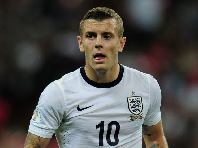 Jack Wilshere of England in action during the FIFA 2014 World Cup Qualifying Group H match between England and Moldova at Wembley Stadium on September 6, 2013