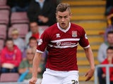 Jacob Blyth of Northampton Town in action during the Sky Bet League Two match between Northampton Town and Scunthorpe United at Sixfields Stadium on September 7, 2013