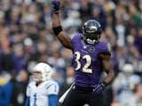 Baltimore Ravens' James Ihedigbo in action during the game against Indianapolis Colts on January 6, 2013