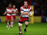 Gloucester's James Simpson-Daniel in action against Leicester Tigers on October 27, 2012