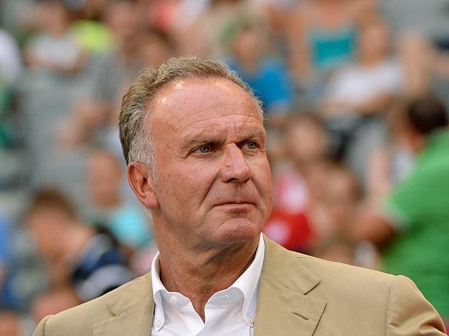 Bayern Munich's CEO Karl-Heinz Rummenigge on July 23, 2013