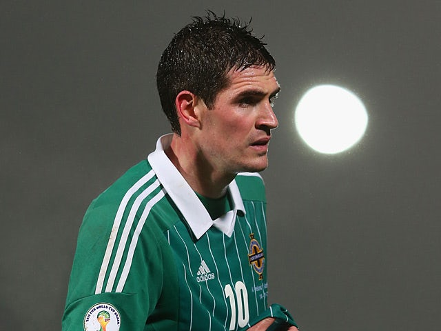 Northern Ireland's Kyle Lafferty in action against Azerbaijan on November 14, 2012